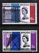 Great Britain 1964 Opening of Forth Road Bridge unmounted mint set of 2 (phosphor) SG 659-60p*