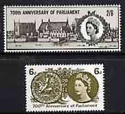 Great Britain 1965 Simon de Montfort's Parliament unmounted mint set of 2 (ordinary) SG 663-64