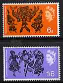 Great Britain 1965 Commonwealth Arts Festival unmounted mint set of 2 (ordinary) SG 669-70