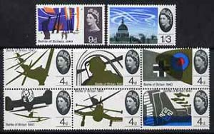 Great Britain 1965 25th Anniversary of Battle Of Britain unmounted mint set of 8 (ordinary) SG 671-78