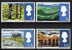 Great Britain 1966 Landscapes unmounted mint set of 4 (phosphor) SG 689-92p*