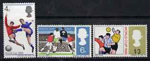 Great Britain 1966 World Cup Football unmounted mint set of 3 (ordinary) SG 693-95