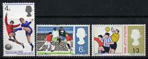 Great Britain 1966 World Cup Football unmounted mint set of 3 (phosphor) SG 693-95p