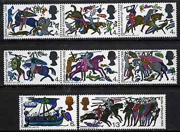 Great Britain 1966 Battle of Hastings unmounted mint set of 8 (ordinary) SG 705-12