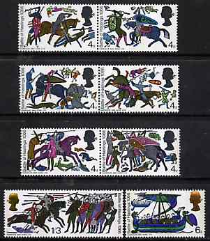Great Britain 1966 Battle of Hastings unmounted mint set of 8 (phosphor) SG 705-12p