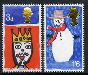 Great Britain 1966 Christmas unmounted mint set of 2 (ordinary) SG 713-14