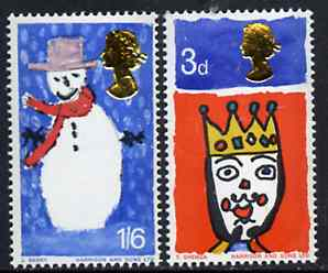 Great Britain 1966 Christmas unmounted mint set of 2 (phosphor) SG 713-14p