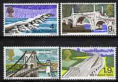 Great Britain 1968 Bridges unmounted mint set of 4, SG 763-66*