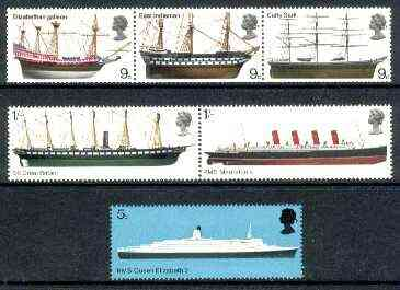 Great Britain 1969 British Ships set of 6 unmounted mint, SG 778-83