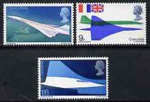 Great Britain 1969 First Flight of Concorde unmounted mint set of 3, SG 784-86*