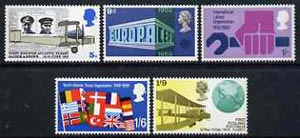 Great Britain 1969 Anniversaries unmounted mint set of 5, SG 791-95*
