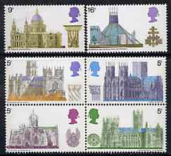 Great Britain 1969 British Architecture - Cathedrals unmounted mint set of 6, SG 796-801