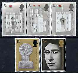 Great Britain 1969 Investiture of Prince of Wales unmounted mint set of 5, SG 802-06