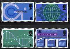 Great Britain 1969 Post Office Technology unmounted mint set of 4, SG 808-11*