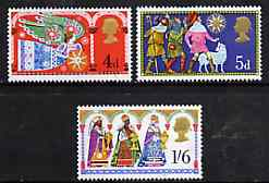 Great Britain 1969 Christmas unmounted mint set of 3, SG 812-14*