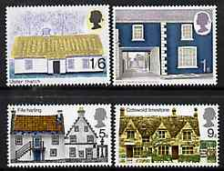 Great Britain 1970 British Rural Architecture - Cottages unmounted mint set of 4, SG 815-18*