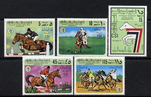 Libya 1977 Turf Championships set of 5 unmounted mint, SG 783-7