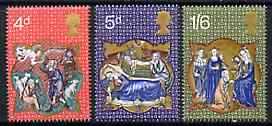 Great Britain 1970 Christmas set of 3 unmounted mint SG 838-40