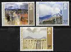 Great Britain 1971 Ulster Paintings set of 3 unmounted mint, SG 881-83