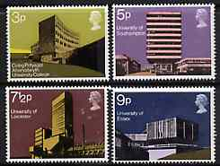 Great Britain 1971 British Architecture - Universities set of 4 unmounted mint, SG 890-93