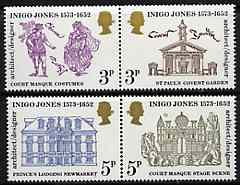 Great Britain 1973 Inigo Jones (Architect) set of 4, unmounted mintSG 935-38