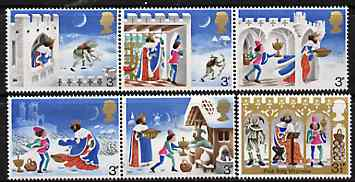 Great Britain 1973 Christmas - Good King Wenceslas set of 6 unmounted mint SG 943-48