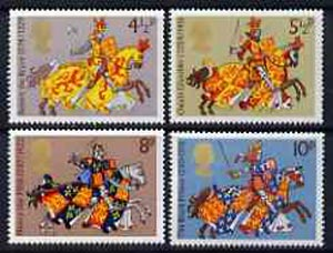 Great Britain 1974 Medieval Warriors set of 4 unmounted mint, SG 958-61