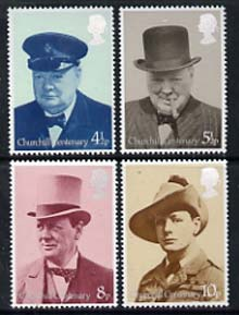Great Britain 1974 Birth Centenary of Sir Winston Churchill set of 4 unmounted mint, SG 962-65