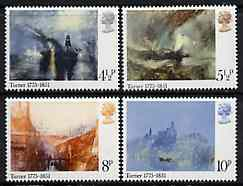 Great Britain 1975 Birth Centenary of Turner (Paintings) set of 4 unmounted mint SG 971-4
