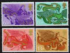 Great Britain 1975 Christmas - Angels set of 4 unmounted mint, SG 993-96
