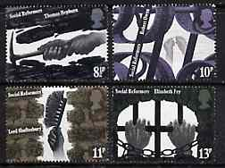 Great Britain 1976 Social Reformers unmounted mint set of 4 SG 1001-04*