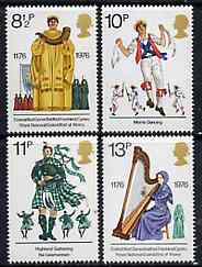 Great Britain 1976 British Cultural Traditions unmounted mint set of 4 SG 1010-13