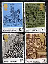 Great Britain 1976 500th Anniversary of British Printing unmounted mint set of 4 SG 1014-17