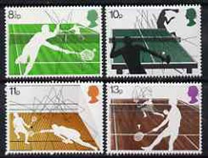 Great Britain 1977 Racket Sports unmounted mint set of 4 SG 1022-25*