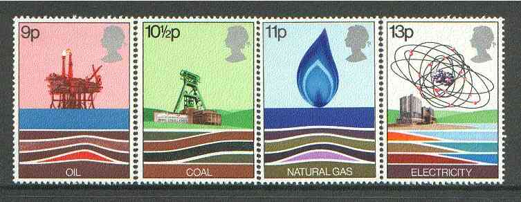 Great Britain 1978 Energy Resources unmounted mint set of 4, SG 1050-53