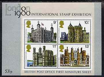 Great Britain 1978 British Architecture (Historic Buildings) unmounted mint m/sheet (Britains first m/sheet) SG MS 1058