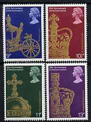 Great Britain 1978 Coronation 25th Anniversary unmounted mint set of 4 SG 1059-62