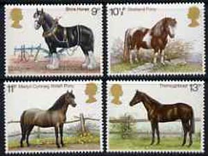 Great Britain 1978 Horses set of 4 unmounted mint, SG 1063-66*