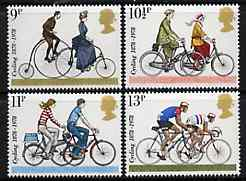 Great Britain 1978 Cycling Centenaries set of 4 unmounted mint SG 1067-70  (gutter pairs available price x 2)