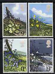 Great Britain 1979 Spring Wild Flowers set of 4 unmounted mint SG 1079-82 (gutter pairs available price x 2)