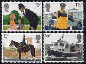 Great Britain 1979 Metropolitan Police 150th Anniversary set of 4 unmounted mint SG 1100-03
