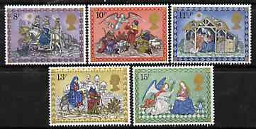 Great Britain 1979 Christmas set of 5 SG 1104-08 unmounted mint (gutter pairs available price x 2)