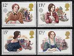Great Britain 1980 Famous Authoresses set of 4 unmounted mint SG 1125-28 (gutter pairs available price x 2)