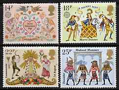 Great Britain 1981 Folklore unmounted mint set of 4 SG 1143-46 (gutter pairs available price x 2)