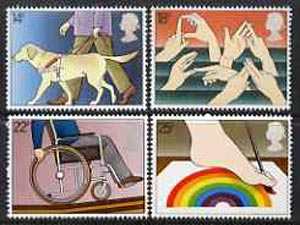 Great Britain 1981 International Year of the Disabled unmounted mint set of 4 SG 1147-50 (gutter pairs available price x 2)