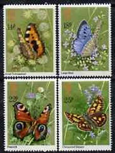 Great Britain 1981 Butterflies unmounted mint set of 4 SG 1151-54