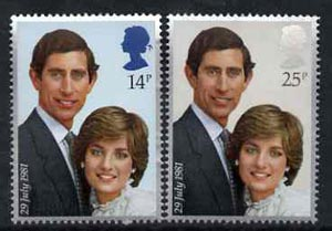 Great Britain 1981 Royal Wedding unmounted mint set of 2 SG 1160-61 (gutter pairs available price x 2)