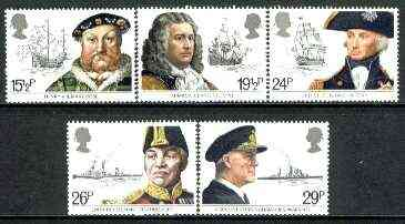 Great Britain 1982 Maritime Heritage set of 5 unmounted mint SG 1187-91  (gutter pairs available price x 2)