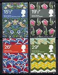 Great Britain 1982 British Textiles unmounted mint set of 4, SG 1192-95  (gutter pairs available price x 2)