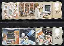 Great Britain 1982 Information Technology set of 2 unmounted mint, SG 1196-97